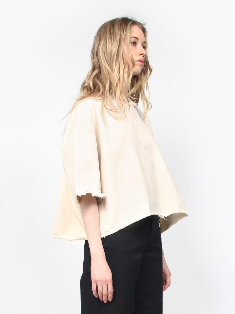 Washed Canvas Tee Cream by Ashley Rowe