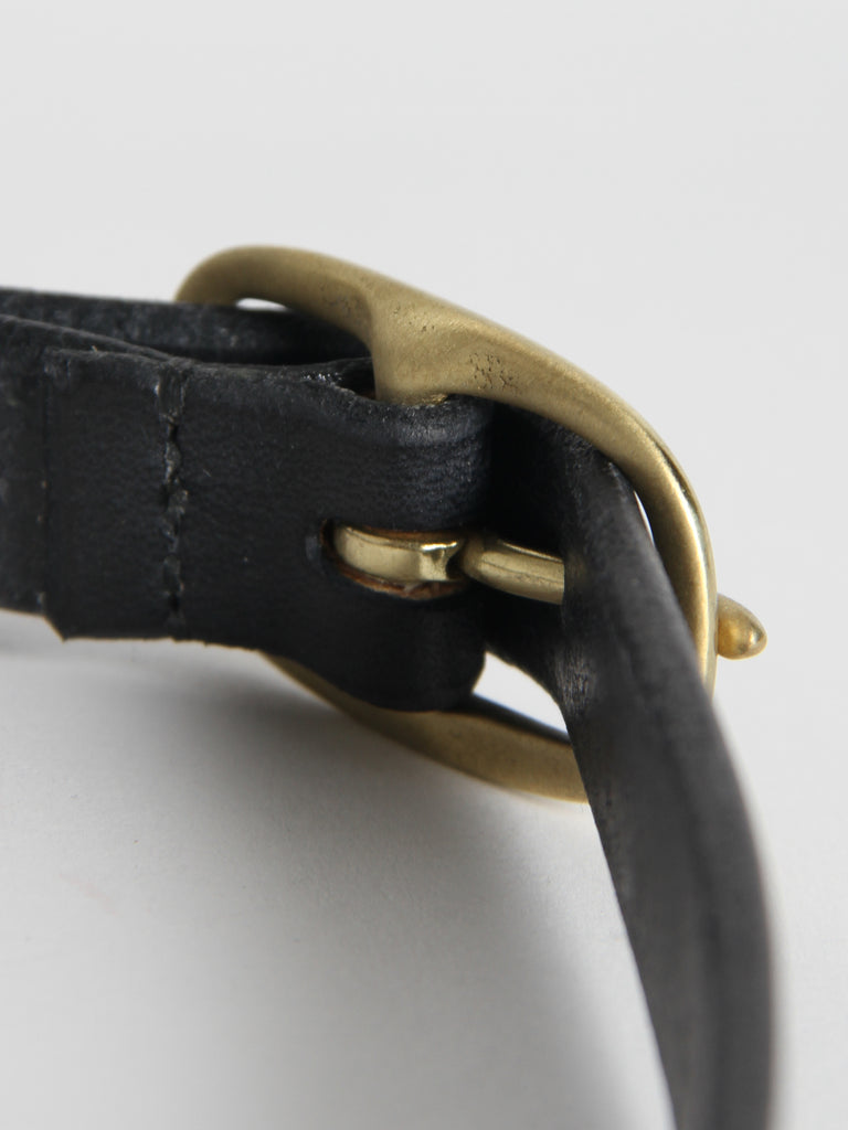 Slim Oval Belt - Black/Brass by Maximum Henry