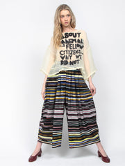 Wide Pant Skirt - Stripes