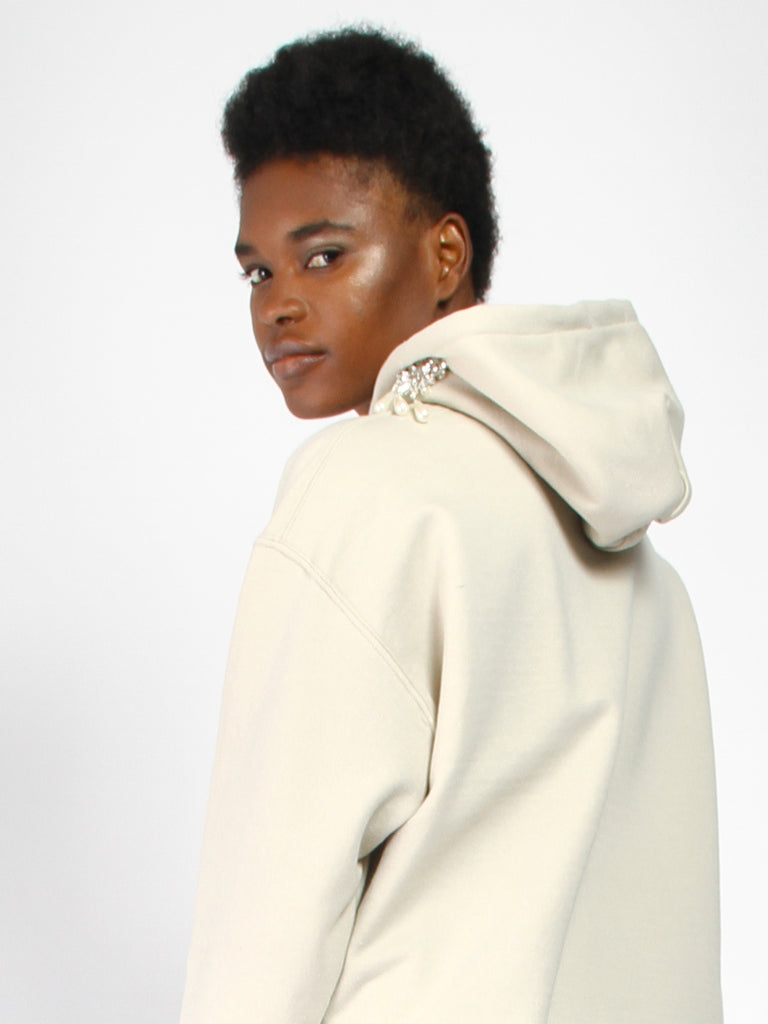 Earring Hoodie by Collina Strada