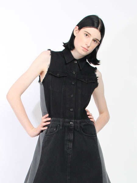 Pieced Denim Dress by MM6 Maison Margiela