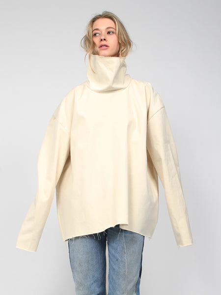 Extra Long Turtleneck - Cream by Ashley Rowe