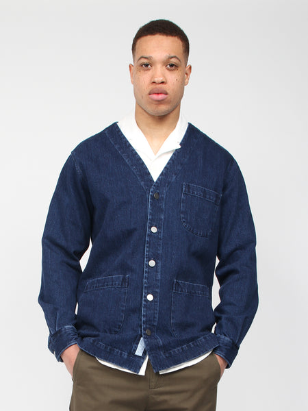 Overshirt Denim One V Neck by Schnaydermans