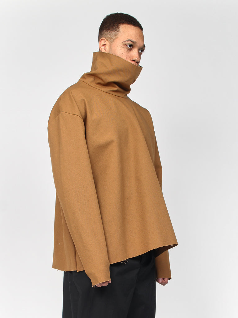 Extra Long Turtleneck - Tan by Ashley Rowe