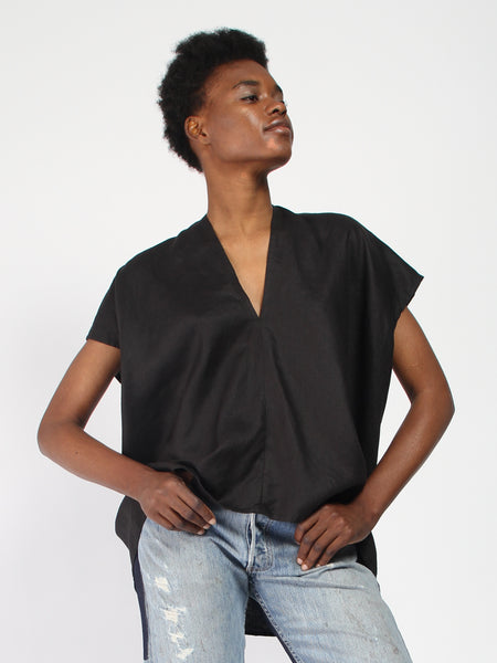 Everyday Top Linen - Black by Miranda Bennett