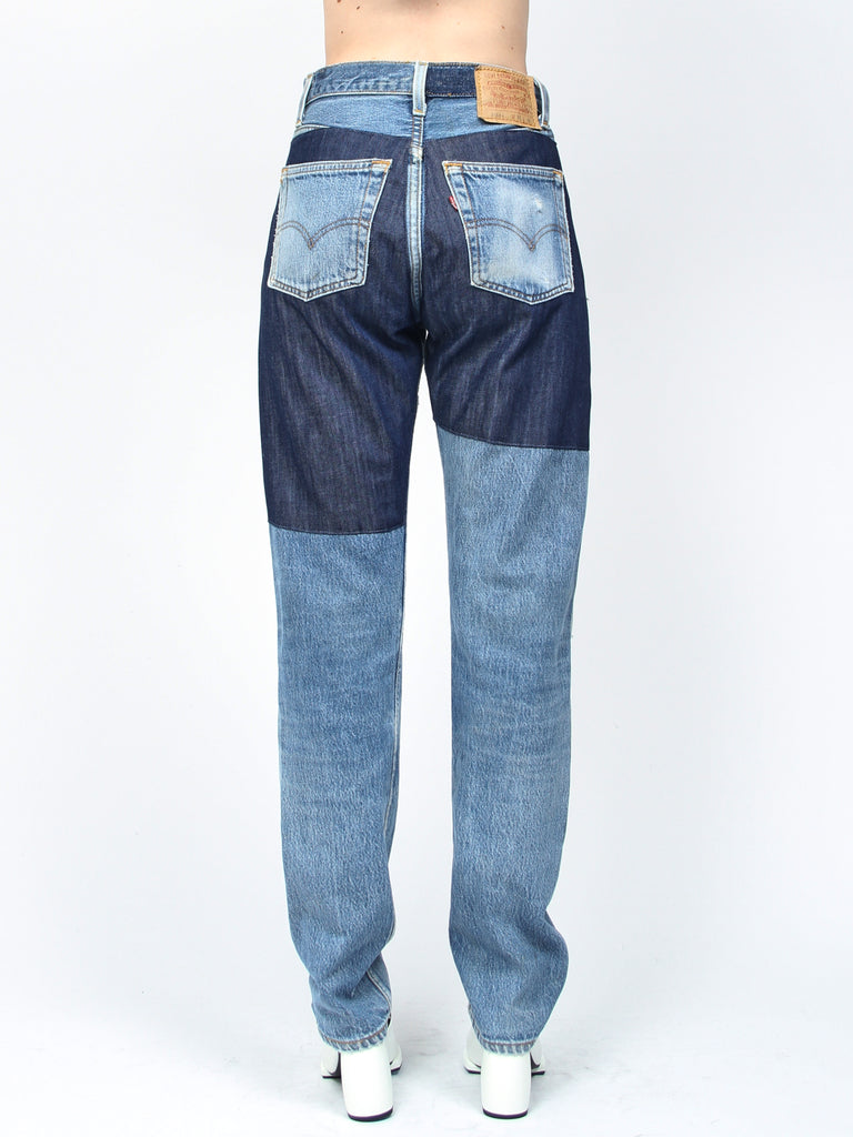 Reverse Patchwork Jean by B-Sides