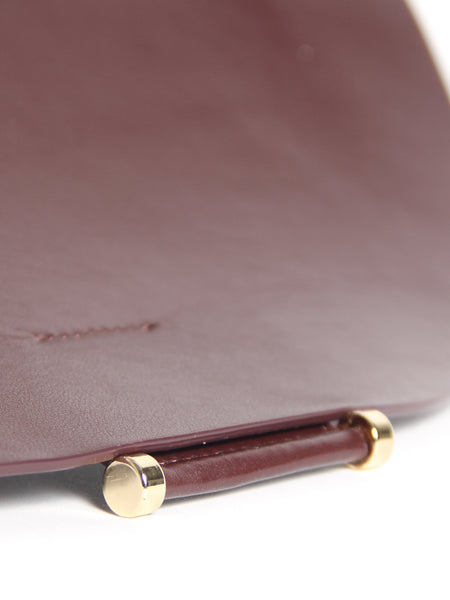Demi Lune Bag - Burgundy by Imago-A