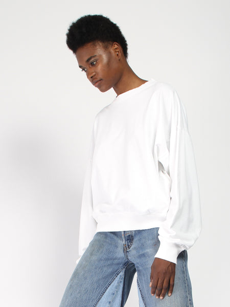 Barranco Sweatshirt - White by Willy Chavarria