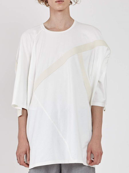 Deconstructed Dolman T-Shirt - White by House of the Very Islands