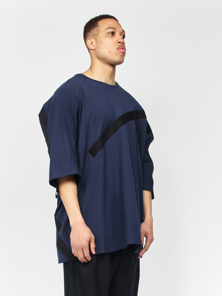 Deconstructed Dolman T-Shirt - Navy by House of the Very Islands