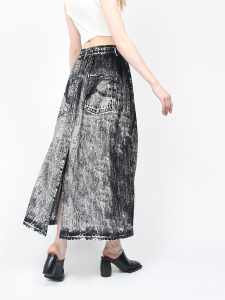 Fake Jeans Print Skirt by Anntian
