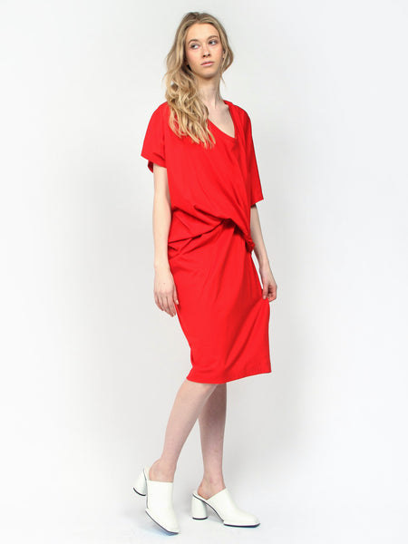 Suzy Lou Dress Red by Reality Studio