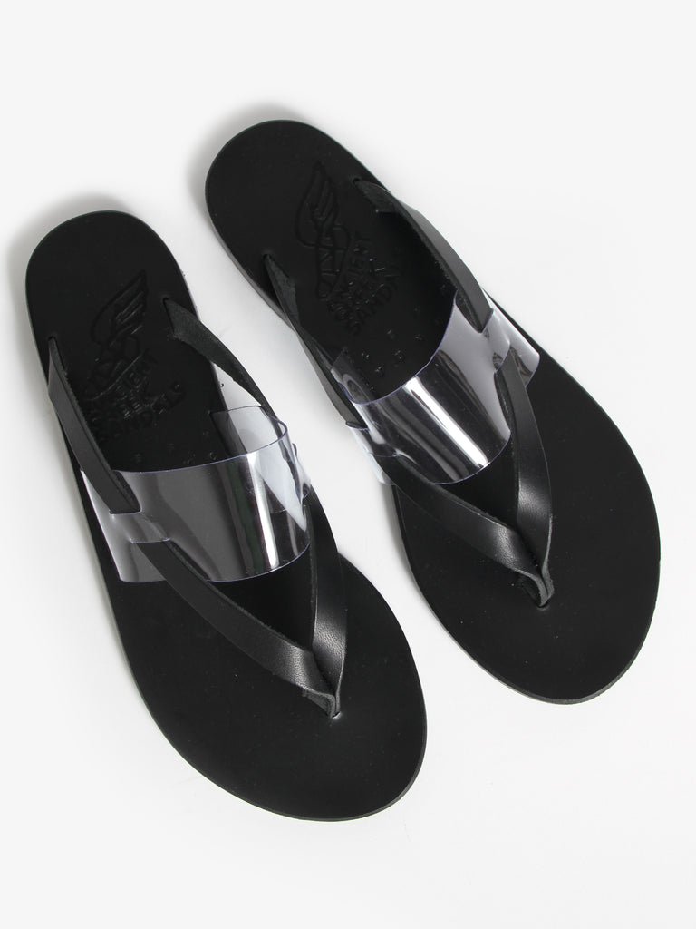 Clear Zenobia Slides, Black/Clear by Ancient Greek Sandals