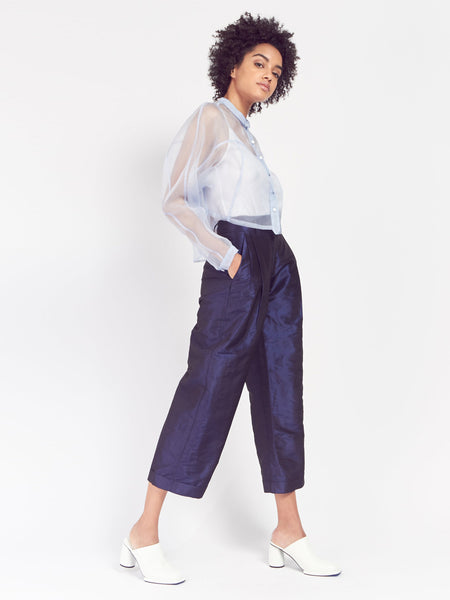 High Waist Pleated Trouser by Suzanne Rae
