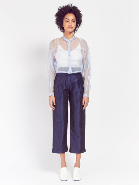 Silk Organza Sheer Shirt by Suzanne Rae