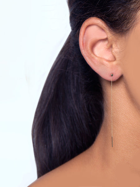 Vesa Earring Black Diamond by Still House