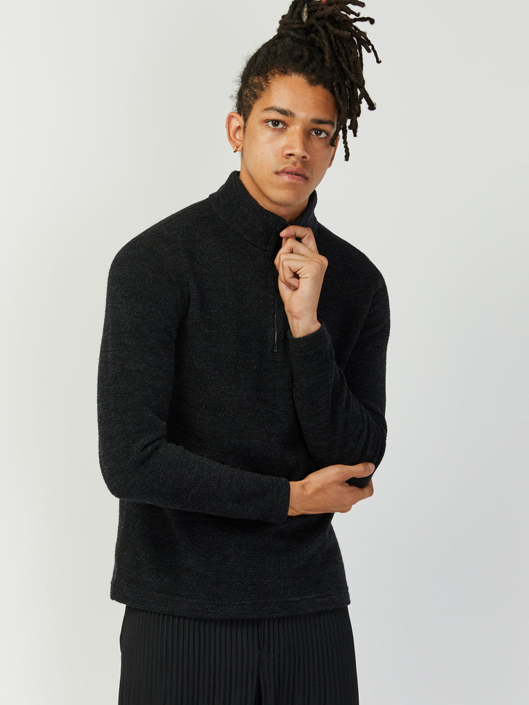Alpine Merino Half Zip - Charcoal by Wings and Horns