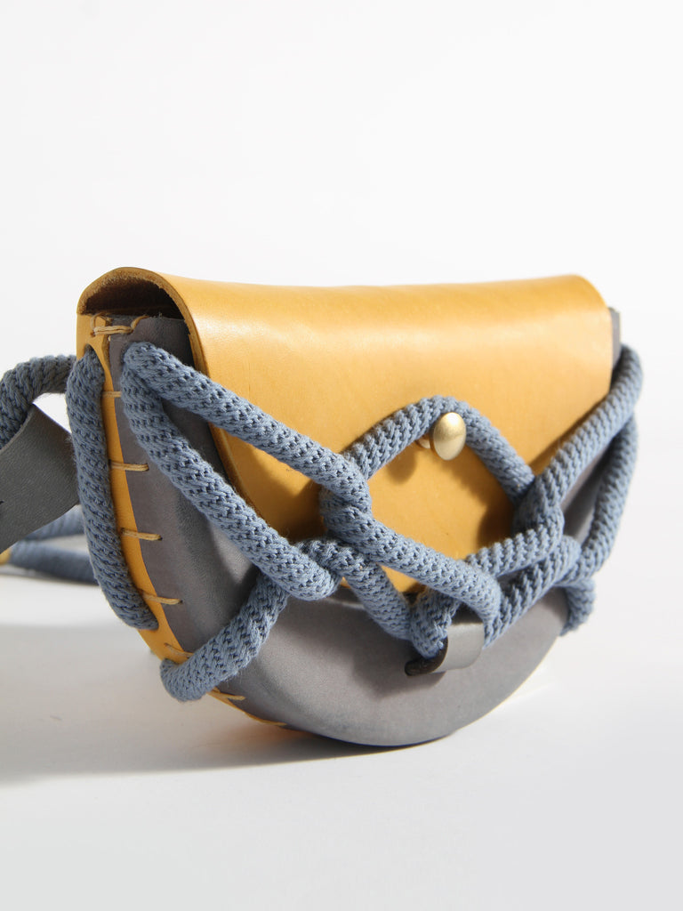 Monkey Pouch with Chain Belt by Eatable of Many Orders