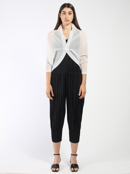 Round Cardigan by Issey Miyake Pleats Please
