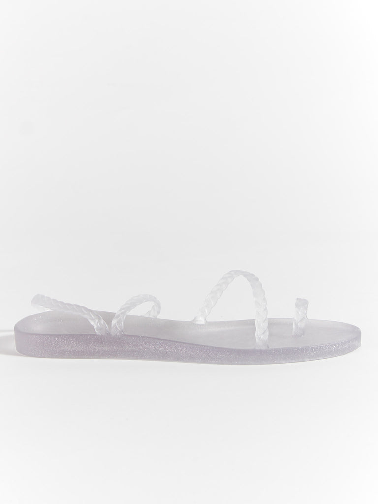 Eleftheria - Clear/Silver by Ancient Greek Sandals