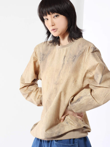 Woodbeige Woven Sweatshirt by Bless
