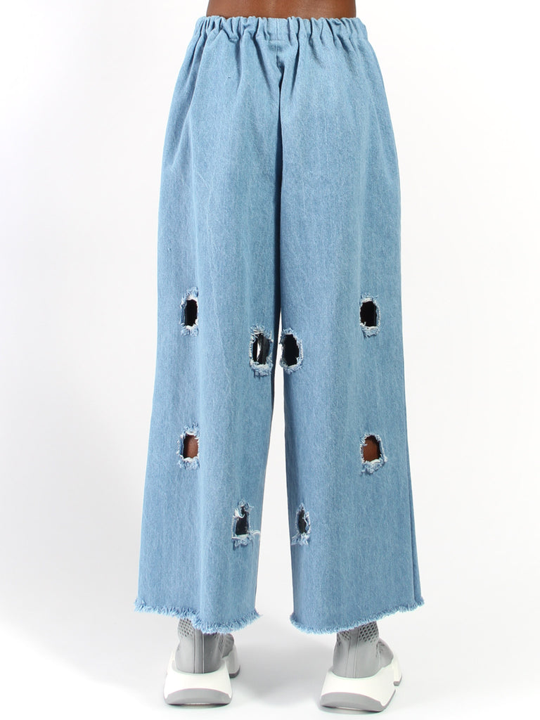 Pant with Square Holes by Ashley Rowe