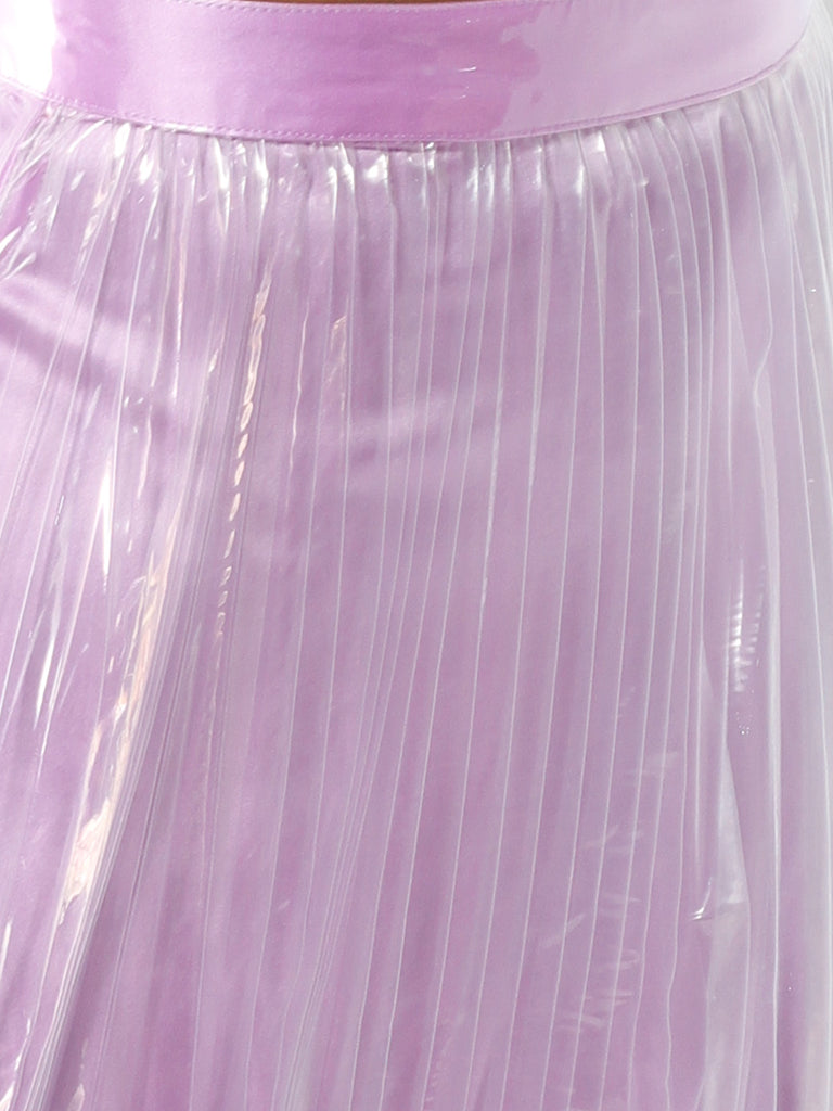 PVC Pleated Skirt by Priscavera