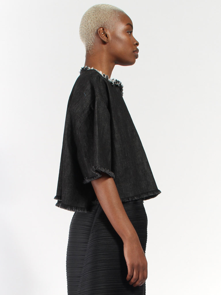 Black Denim Tee by Ashley Rowe