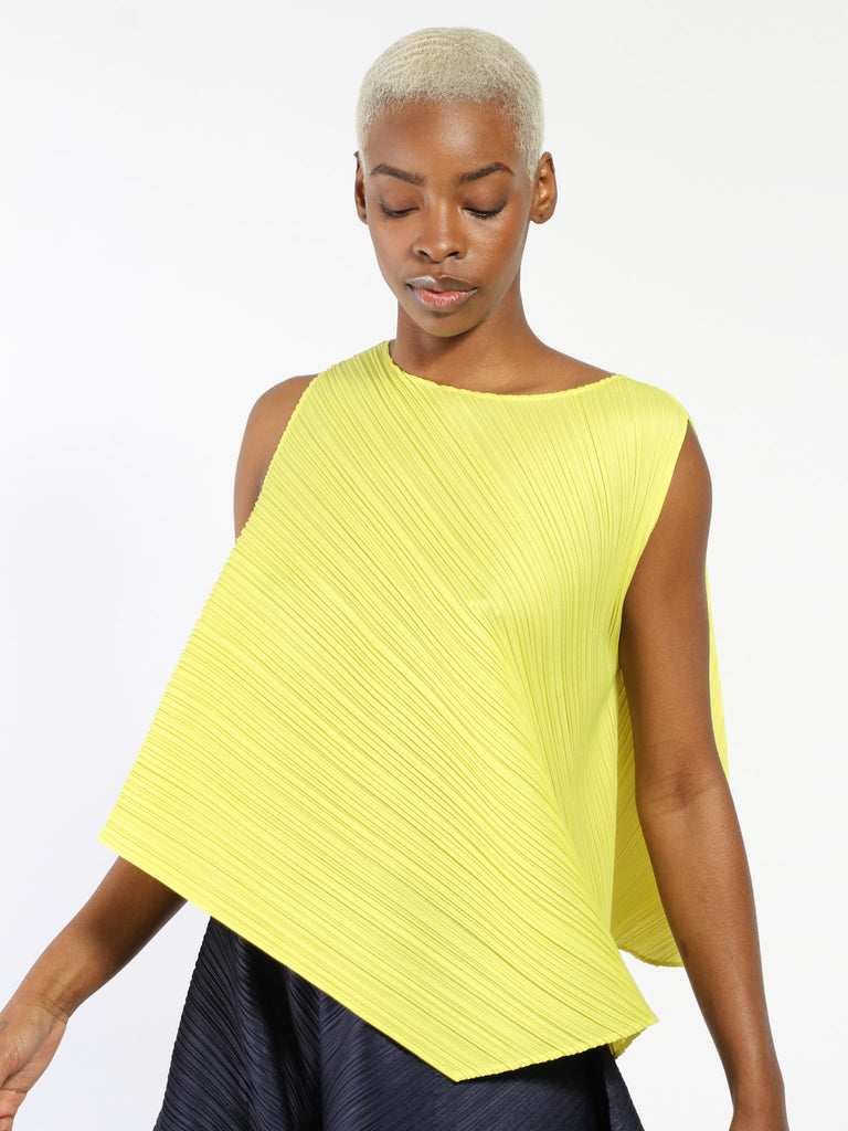 Asymmetrical Tank by Issey Miyake Pleats Please
