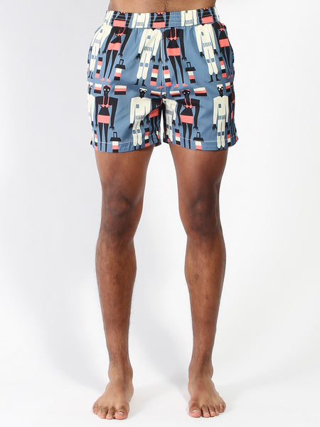 Morais Swimshort - Blue Afro by La Paz