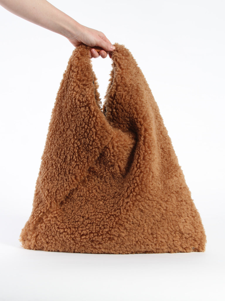 Furry Triangle Bag - Camel by MM6 Maison Margiela