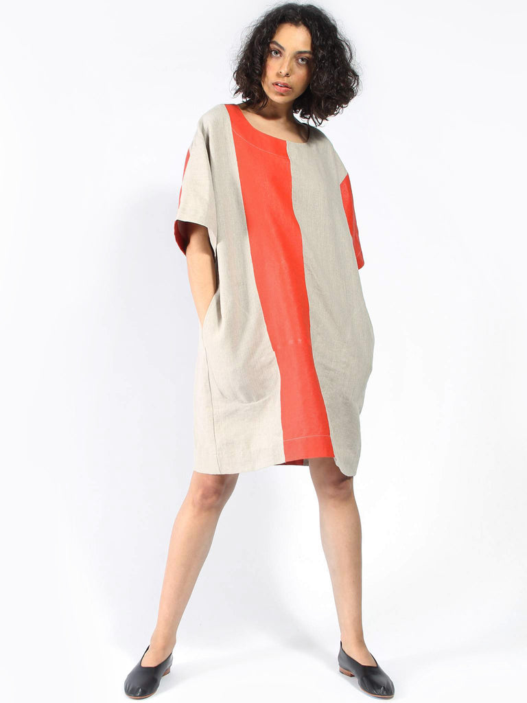 Striped Teeshirt Dress by Nancy Stella Soto