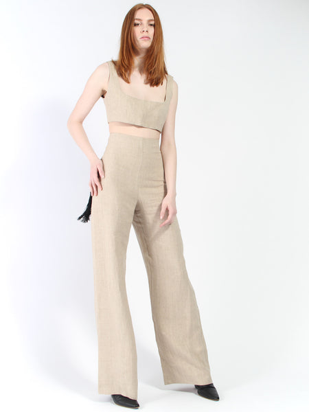 Nina Trousers with Black Fringe by Paris Georgia
