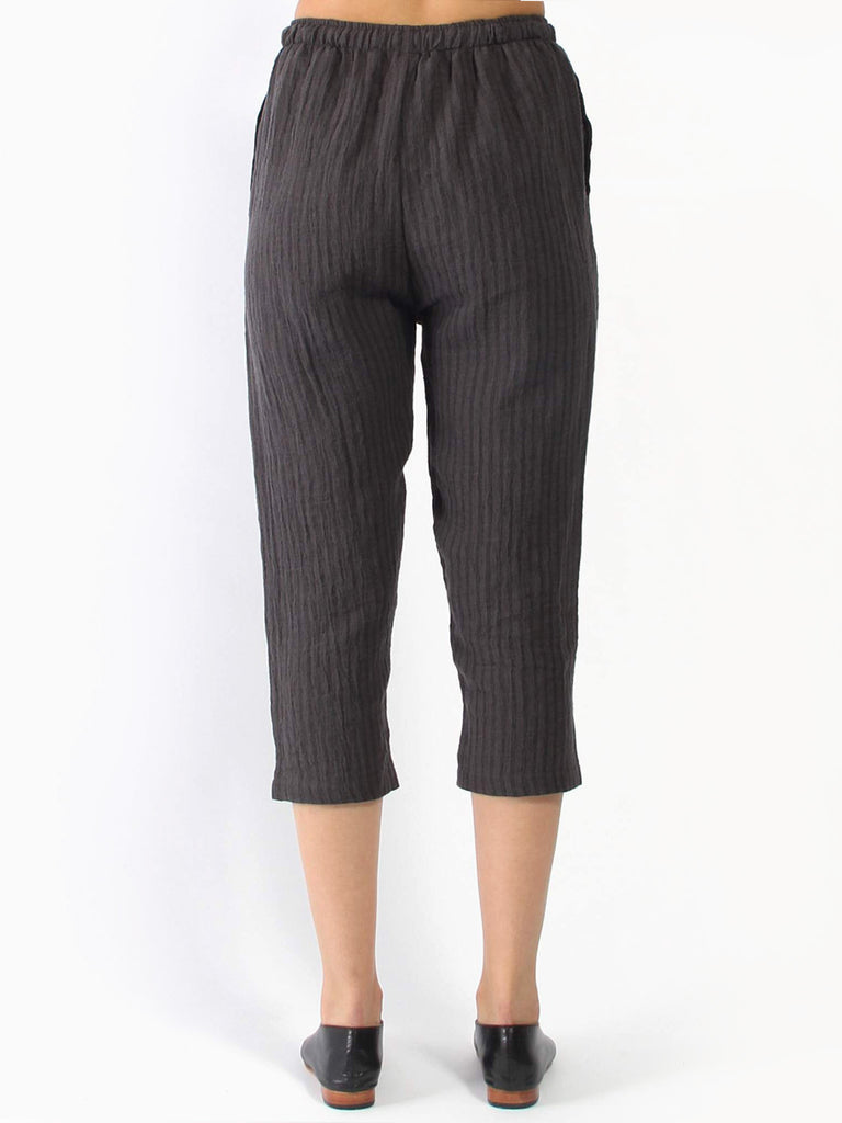 Yu Pant - Charcoal Stripe by Priory