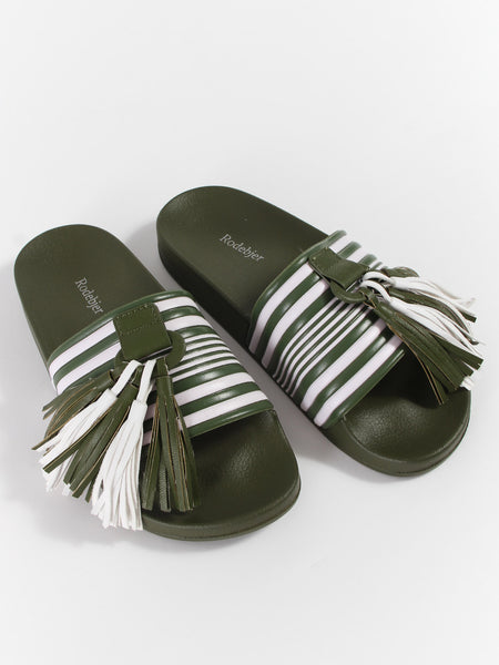 Gaby Slide - Khaki Green by Rodebjer