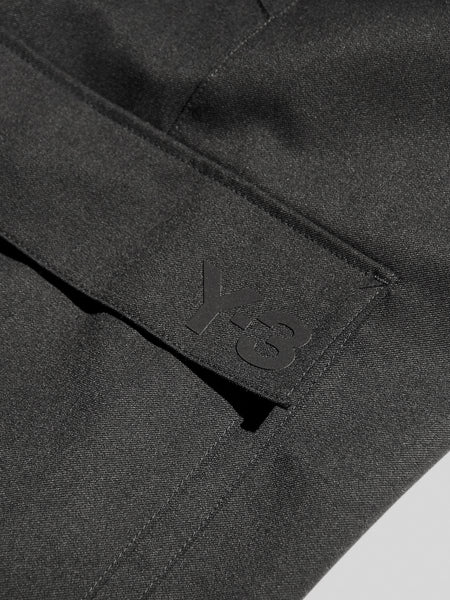 Classic Refined Wool Stretch Cargo Shorts by Y-3