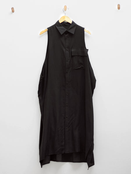 O-Flap Pocket Shirtdress by Y's by Yohji Yamamoto