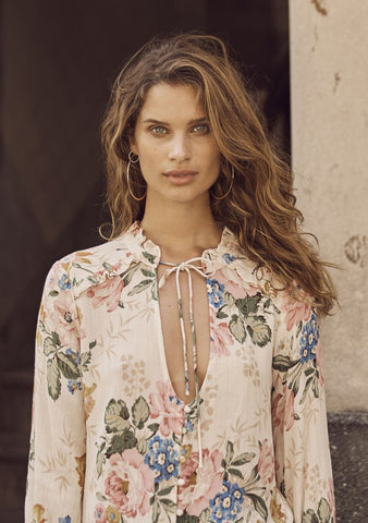 Auguste 'Delilah Boho Blouse' in Bloom Natural