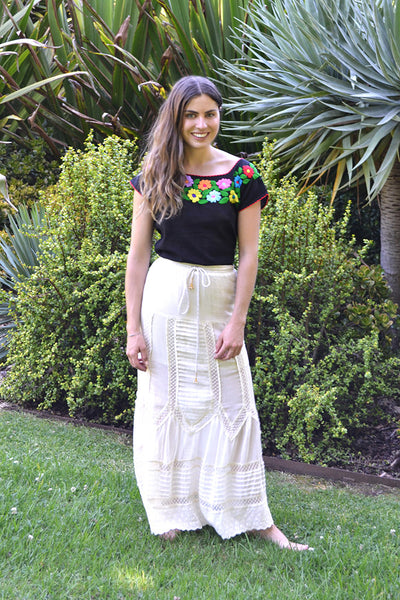 Auguste 'Old Days Maxi Skirt' Off White