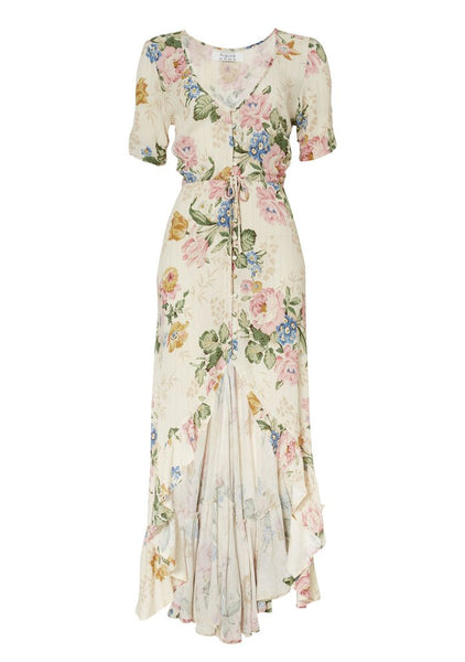 Auguste 'Delilah Frilled Maxi Dress' in Bloom Natural