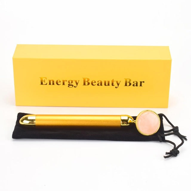 24K Gold Vibrating Gemstone Beauty Bar - Rose Quartz