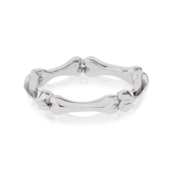 18ct White Gold Little Phalanx Ring by Love Is