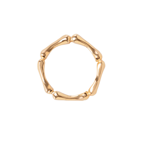 Gold Little Phalanx Ring top view by McFarlane Fine Jewellery