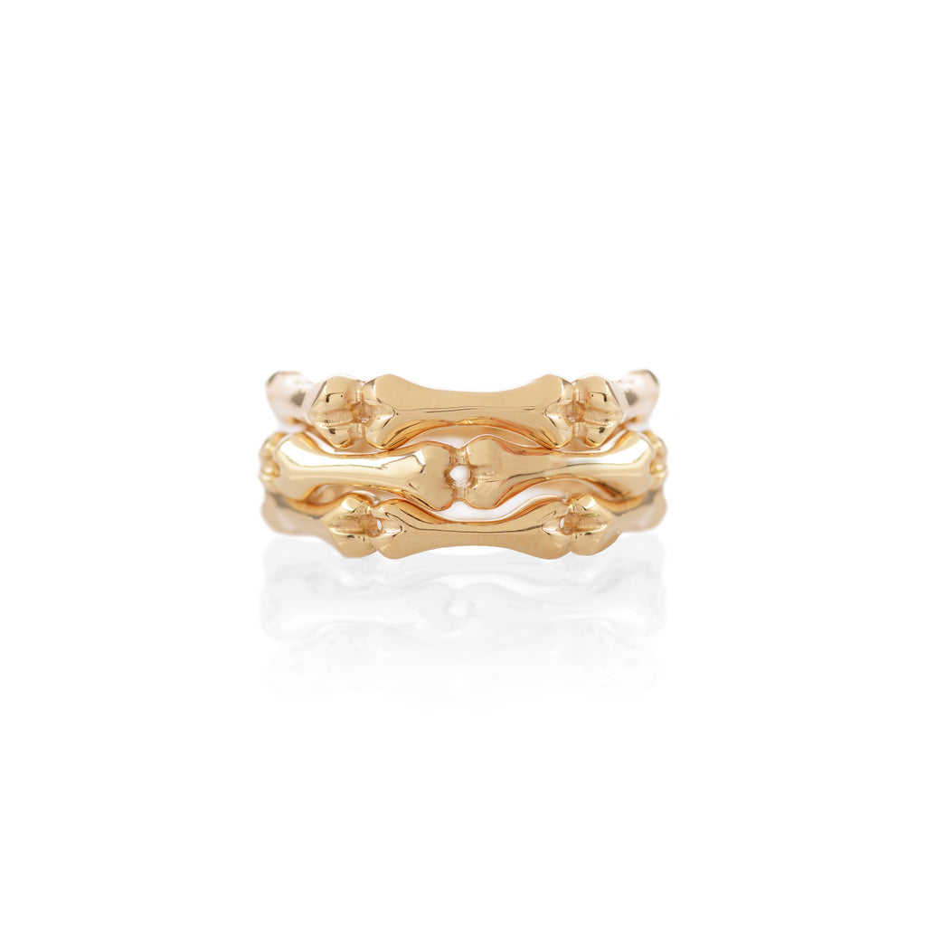 18ct yellow Gold Little Phalanx Stack by McFarlane Fine Jewellery