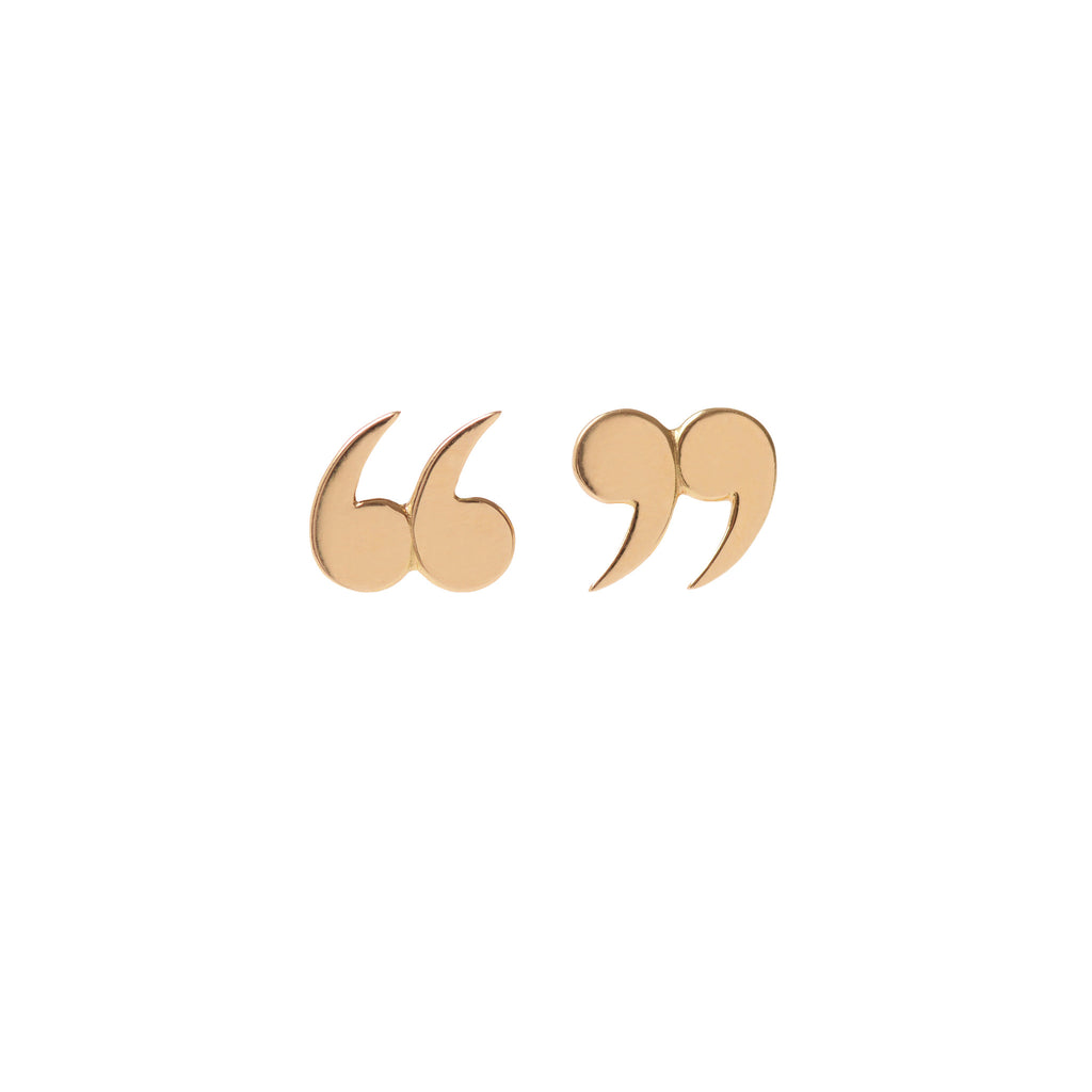 Quote Un-Quote Earrings by McFarlane Fine Jewellery