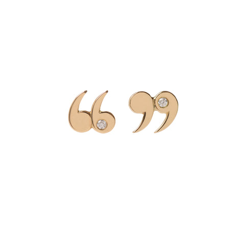 Diamond Accented Quote Un-Quote Earrings by McFarlane Fine Jewellery