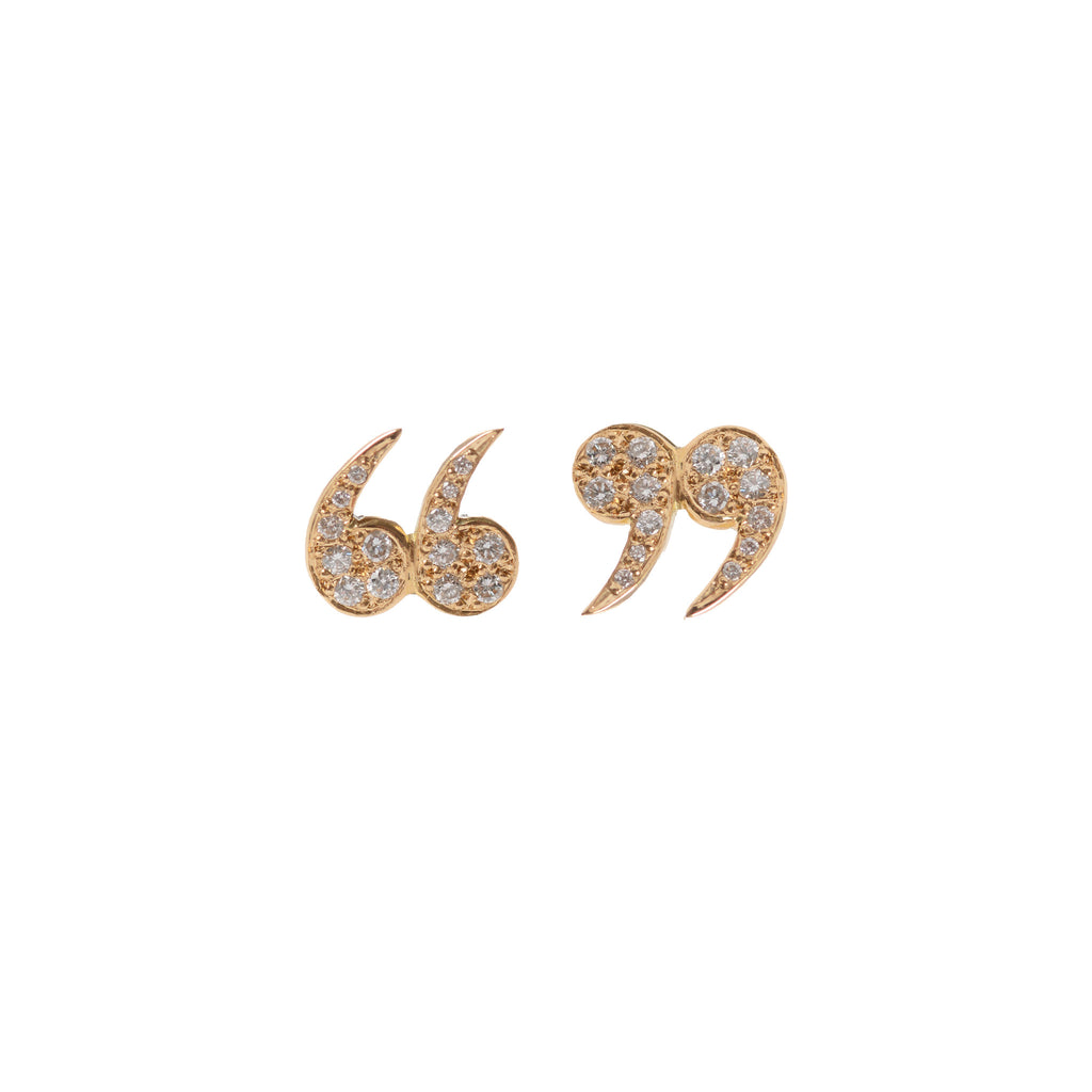 "Diamond Encrusted ""Quote Un-Quote"" Studs by McFarlane Fine Jewellery"