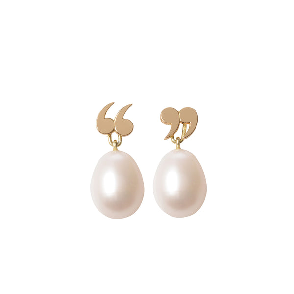 Quote Un-Quote Earrings with Pearl Pendants by McFarlane Fine Jewellery