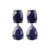 Blue Sapphire Earrings in 18ct white gold by McFarlane Fine Jewellery