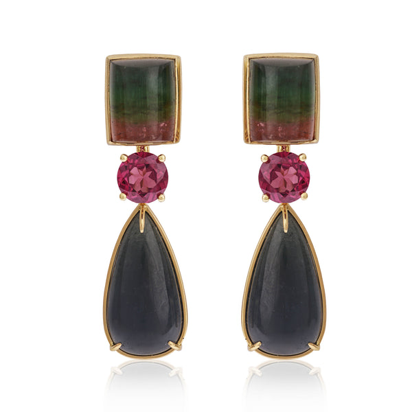 Stunning handmade Tourmaline Earrings by McFarlane Fine Jewellery